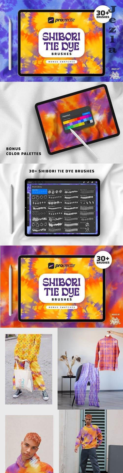 Procreate Shibori Tie Dye Brushes - 6280242