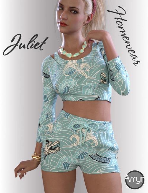 dForce Juliet Homewear for Genesis 8.1 Females