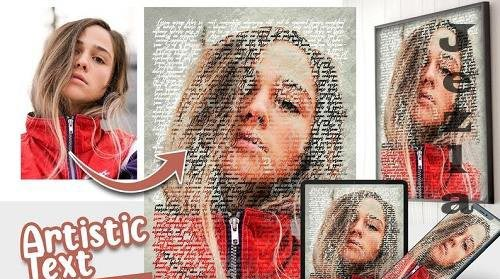 Artistic Text Photo effect template