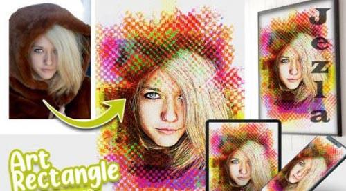 Art Rectangle Photo effect template