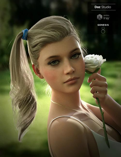 Kelya Side Ptail Set for Genesis 8 Female(s)