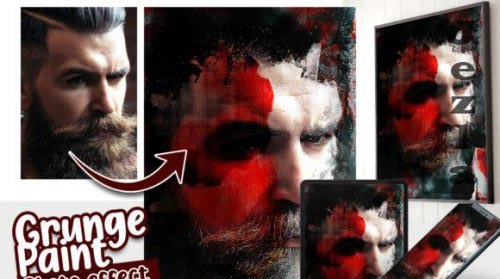 Grunge Photo effect template