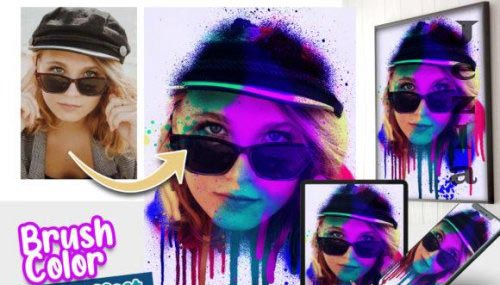 Brush Color Photo effect template