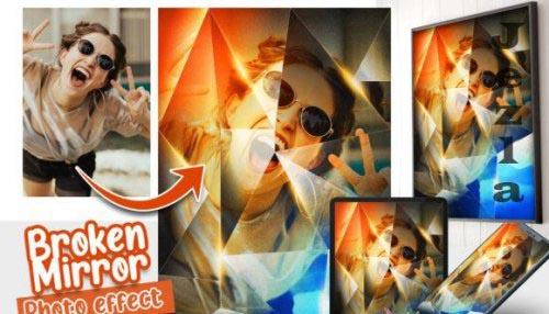 Broken Mirror Photo effect template
