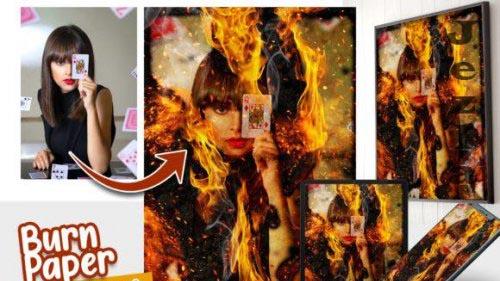 Burn Paper Photo effect template