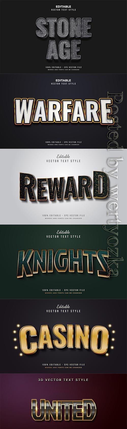 3d editable text style effect vector vol 642