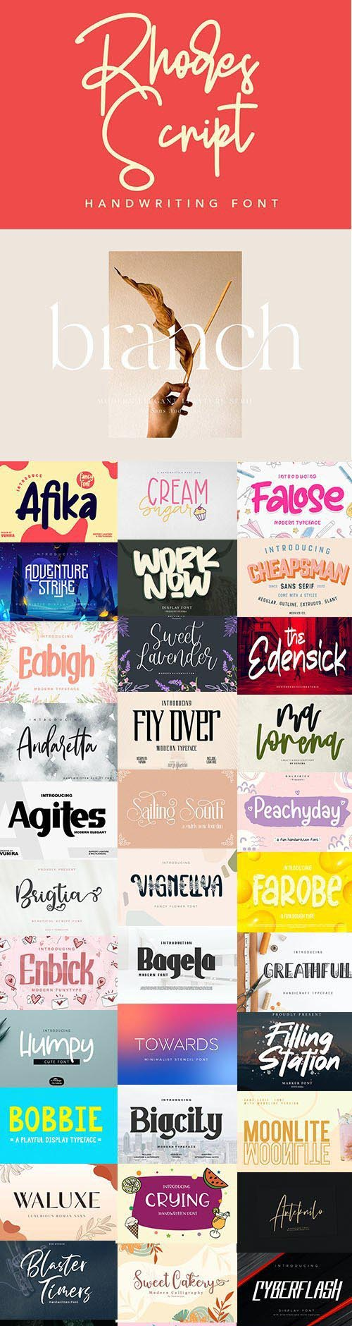 Super Fonts Pack Vol.1 [Aug/2020] - 38 Fonts