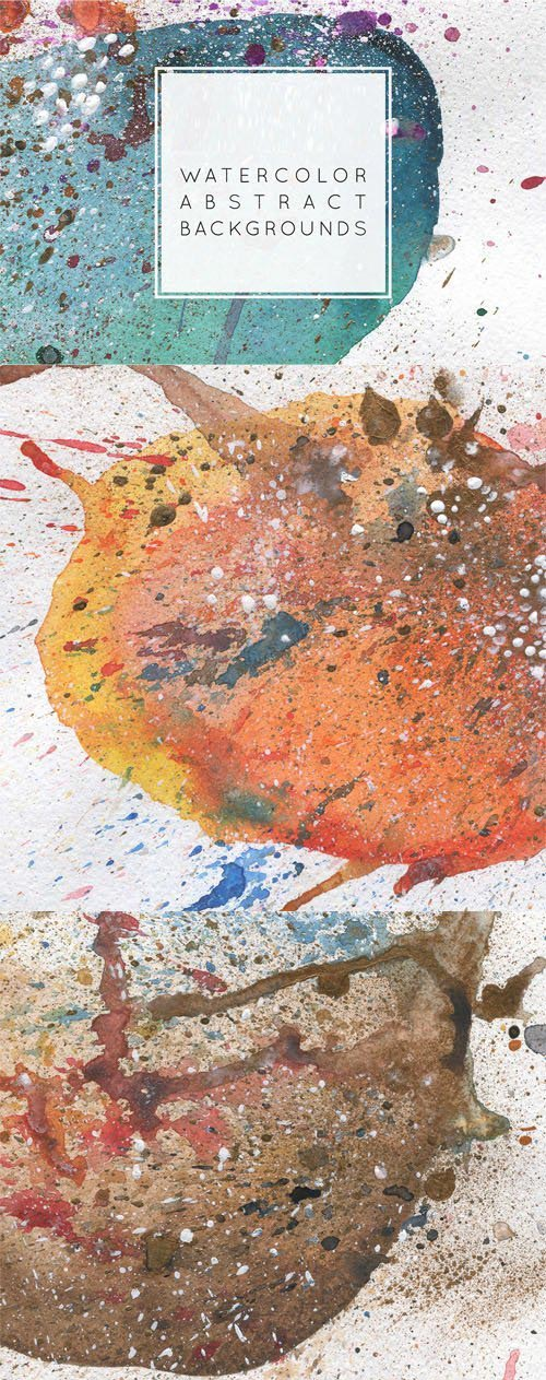 Abstract Watercolor Backgrounds Collection