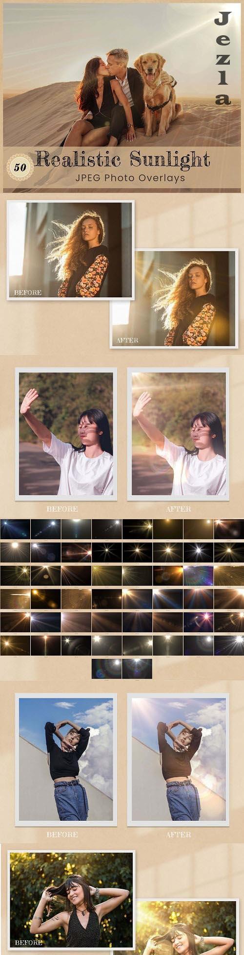 50 Realistic Sunlight Photo Overlay - 6316789