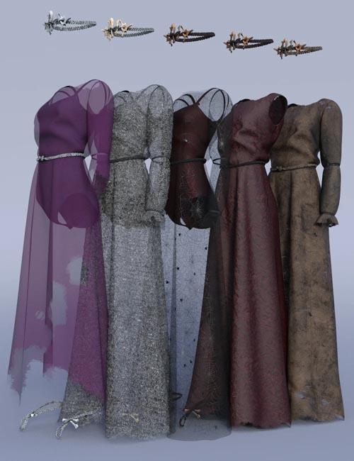 dForce Dark Fairy Gown Textures