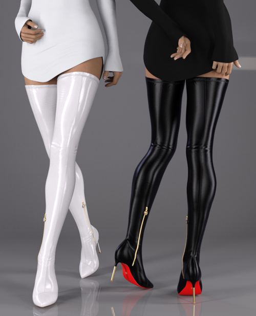 Hot Tight Thigh High Pointy Boots for G8F & G8.1F