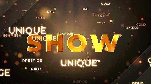 Gold Countdown Intro 981666 - Premiere Pro Templates