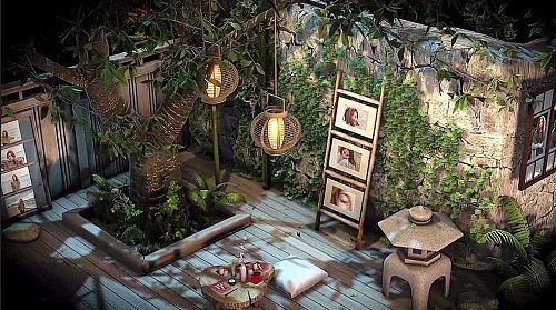 Photo Gallery In A Garden At Night 826562 - Project for After Effects