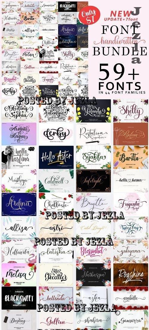 Font Collection Bundle - 59 Premium Fonts