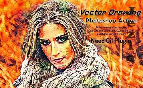 Vector Drawing Photoshop Action - 6355534