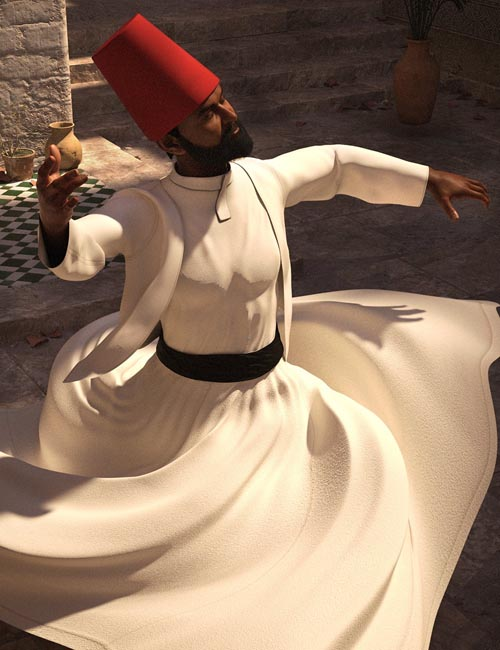 dForce Whirling Dervish Outfit for Genesis 8 Males