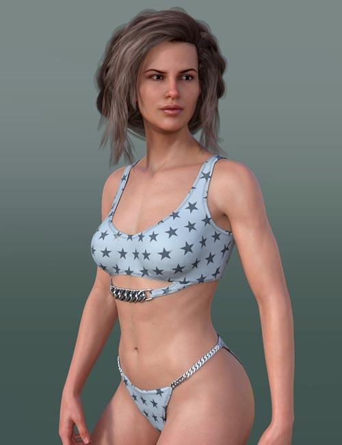 Elegant Swimsuit for Genesis 8 Female(s)