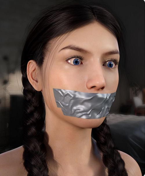 Duct Tape Gag For Genesis 8 Female