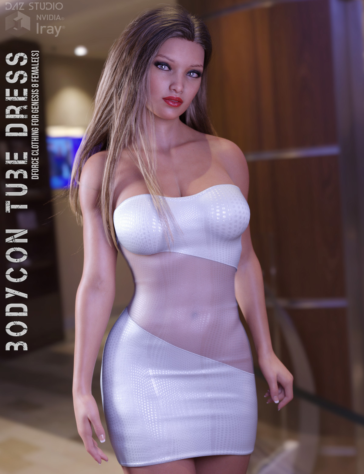 dForce Bodycon Tube Dress for Genesis 8 Females