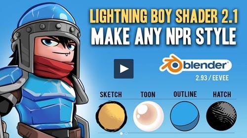 Gumroad - Blender - Lightning Boy Shader 2.1