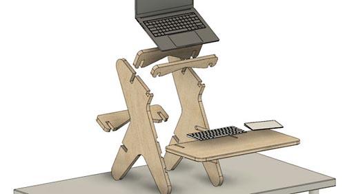LinkedIn - Fusion 360: Animate a Parametric Standing Desk
