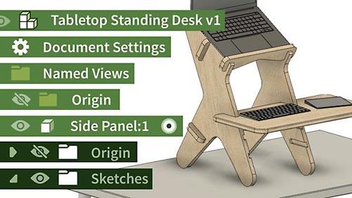 LinkedIn - Fusion 360: Design a Parametric Standing Desk