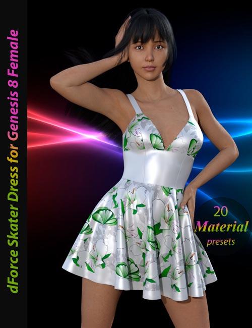 dForce Skater Dress for Genesis 8 Female