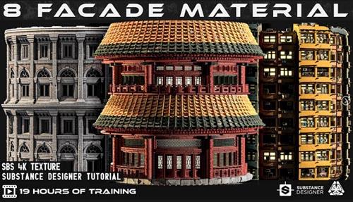 Artstation - 8 Facade Material + Tutorials