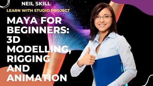 Skillshare - Maya for Beginners 3D Modelling Rigging and Animation
