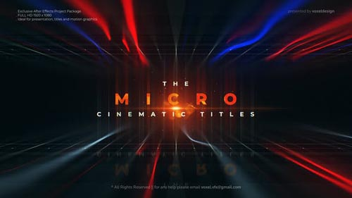 Videohive - Micro Cinematic Titles - 32540164