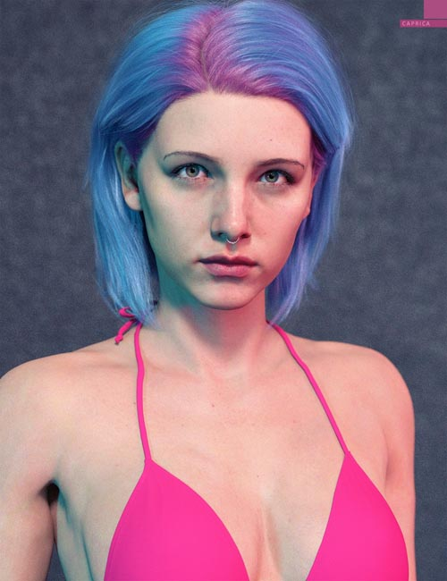Caprica HD with HD Expressions for Genesis 8.1 Female