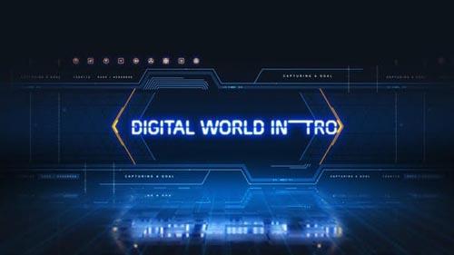 Videohive - Digital World Intro - 28445833