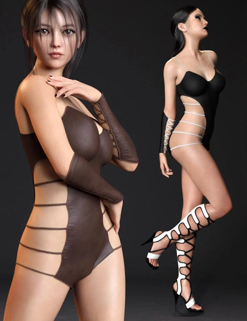 Strappy Suit Set for Genesis 8 and 8.1 Females