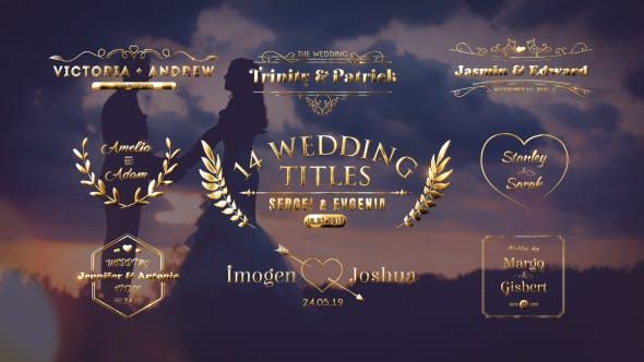 Videohive - Wedding Titles - 21473391