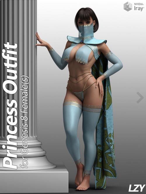 Princess Outfit for Genesis 8 Female