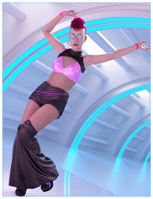dForce Rave Party Outfit for Genesis 8 Female(s)