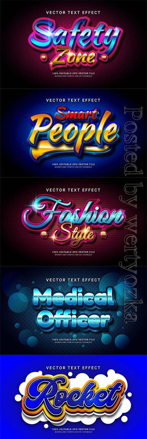 3d editable text style effect vector vol 840