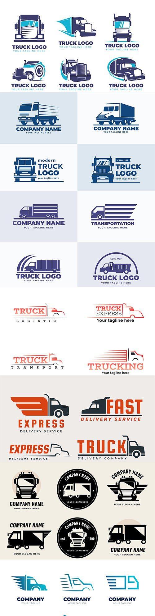 Truck logo vector design