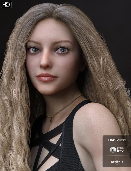 Blair HD and Expressions for Genesis 8 Female