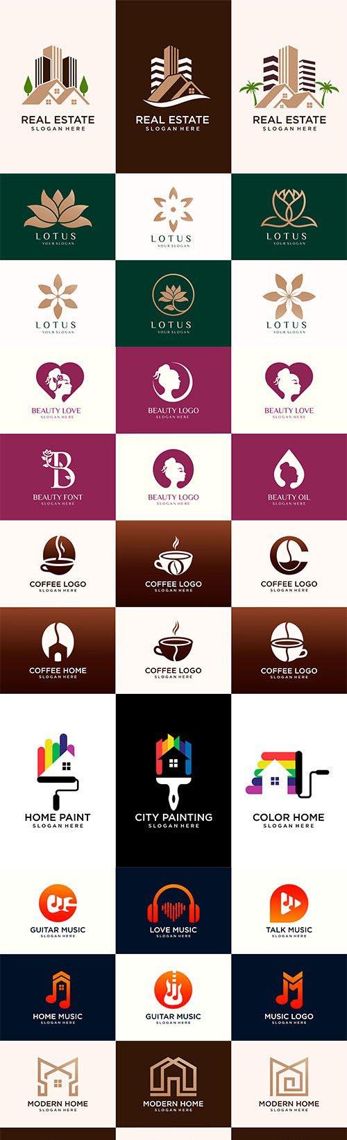 Logo and business card premium vector design