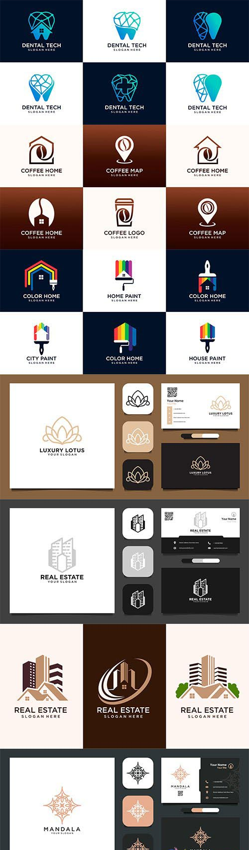 Business card and Logo vector design