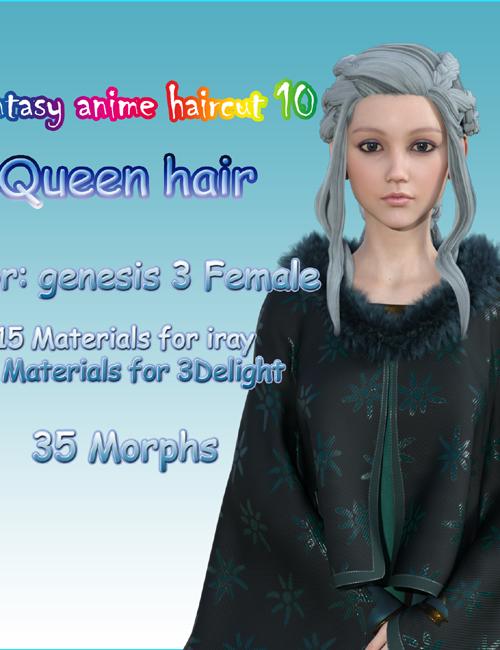 Fantasy Anime Haircut 10 Queen Hair for G8F