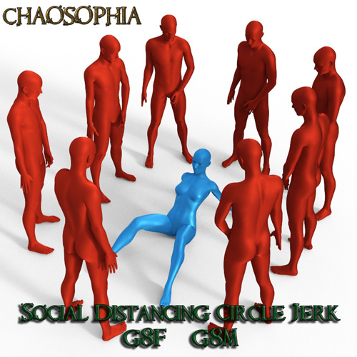 Social Distancing Circle Jerk Poses G8