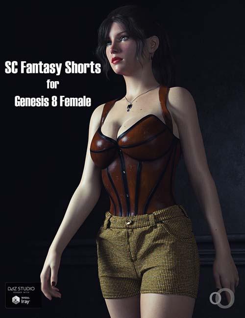 SC Solo Fantasy Shorts for Genesis 8 female