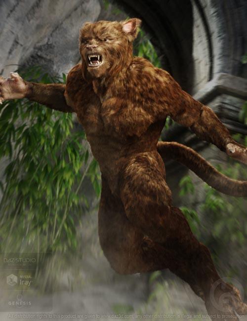 Cat Beast with dForce Hair for Genesis 8 Male