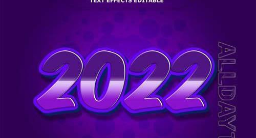 2022 text effect editable Premium Psd