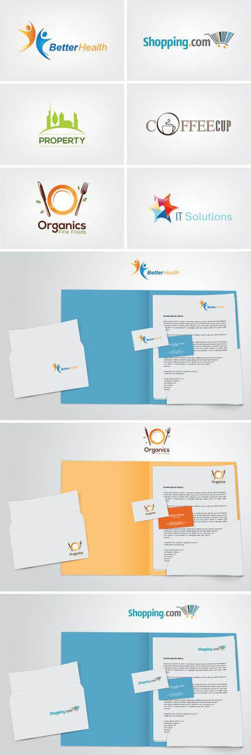 6 Professional Business Vector Logos