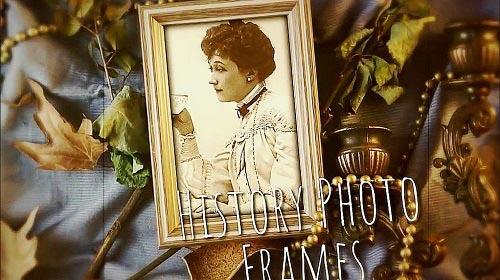 History Photo Frames Cinematic Opener 974470 - DaVinci Resolve Templates