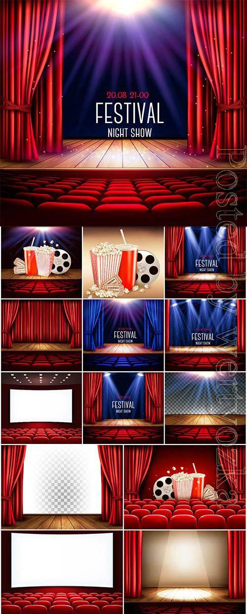 Festival night show illustration in vector