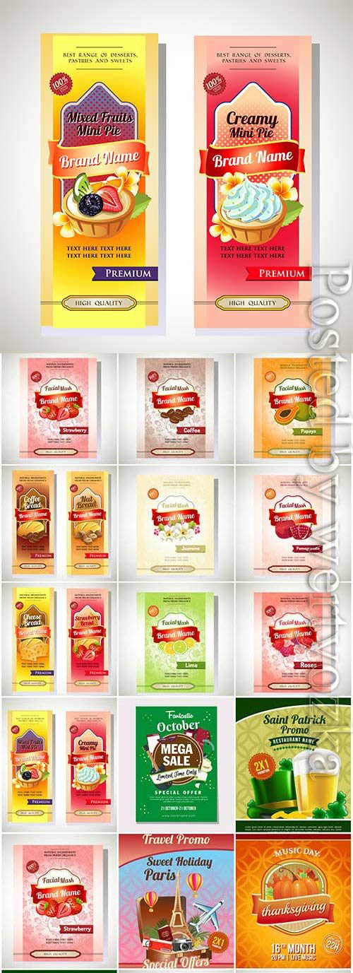 Grocery packaging illustration in vector